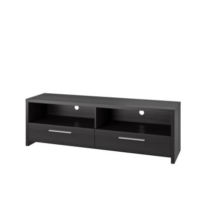 Fernbrook 59 in. Black Wood TV Stand with 2 Drawer Fits TVs Up to 70 in. with Cable Management