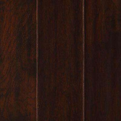 Chocolate Hickory 1/2 in. T x 5.25 in. W x Varying L Soft Scraped Engineered UNICLIC Hardwood Flooring (23 sq. ft.)