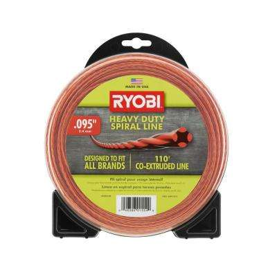 0.095 in. x 110 ft. Heavy-Duty Spiral Gas Trimmer Line