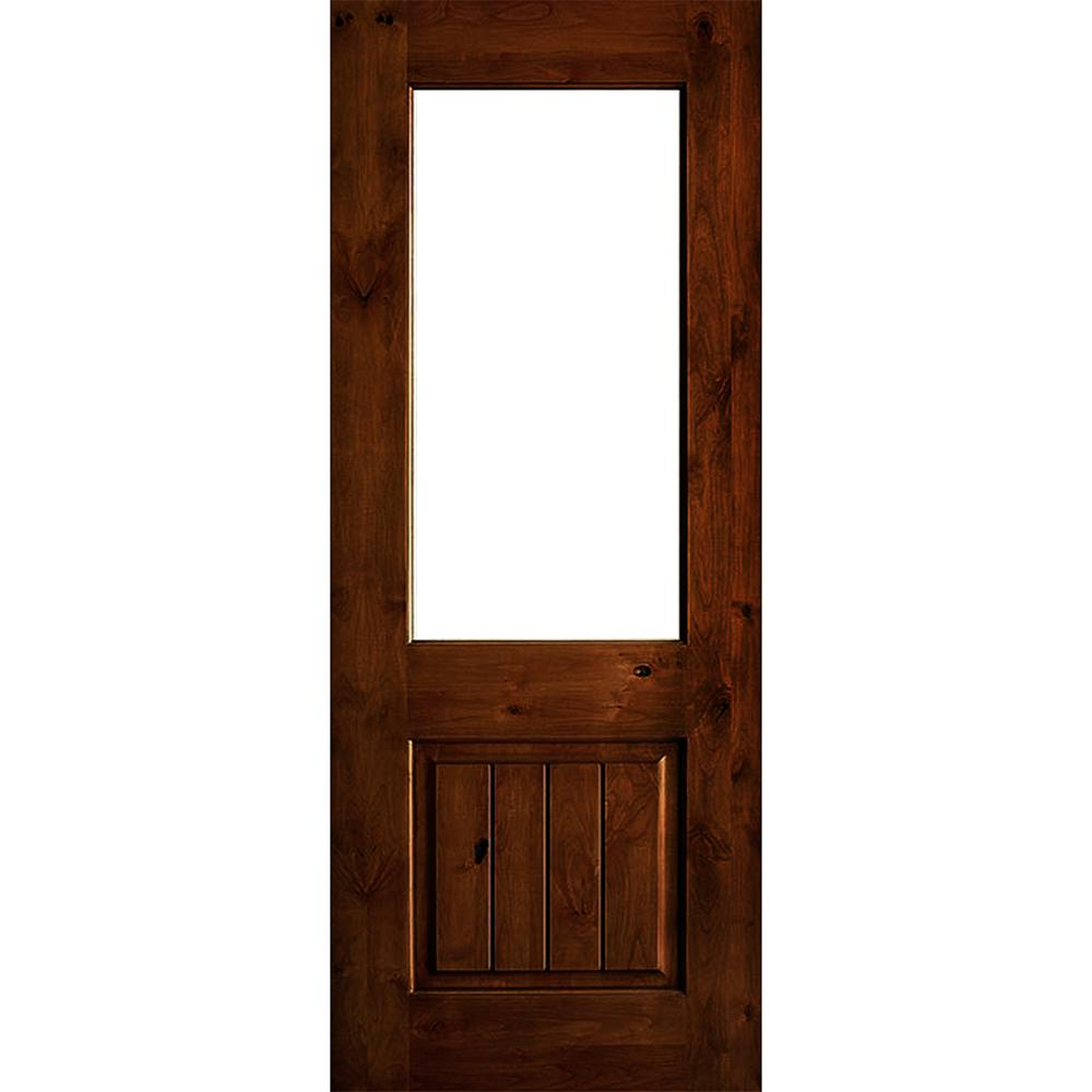 Krosswood Doors 30 In X 80 In Rustic Knotty Alder 2: Krosswood Doors 36 In. X 96 In. Rustic Knotty Alder Wood