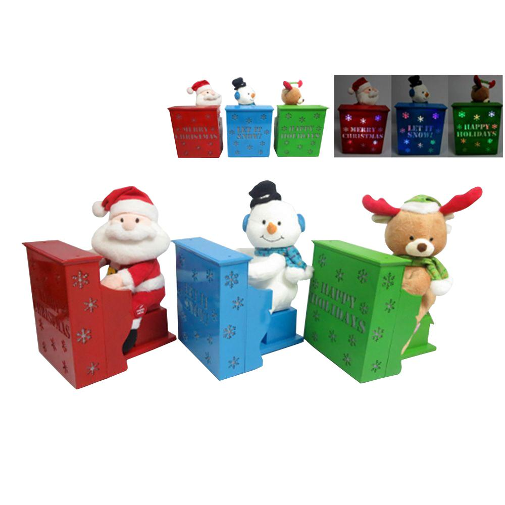 11 in. Christmas Pals with Playing Piano and Light-Up (Assorted Styles