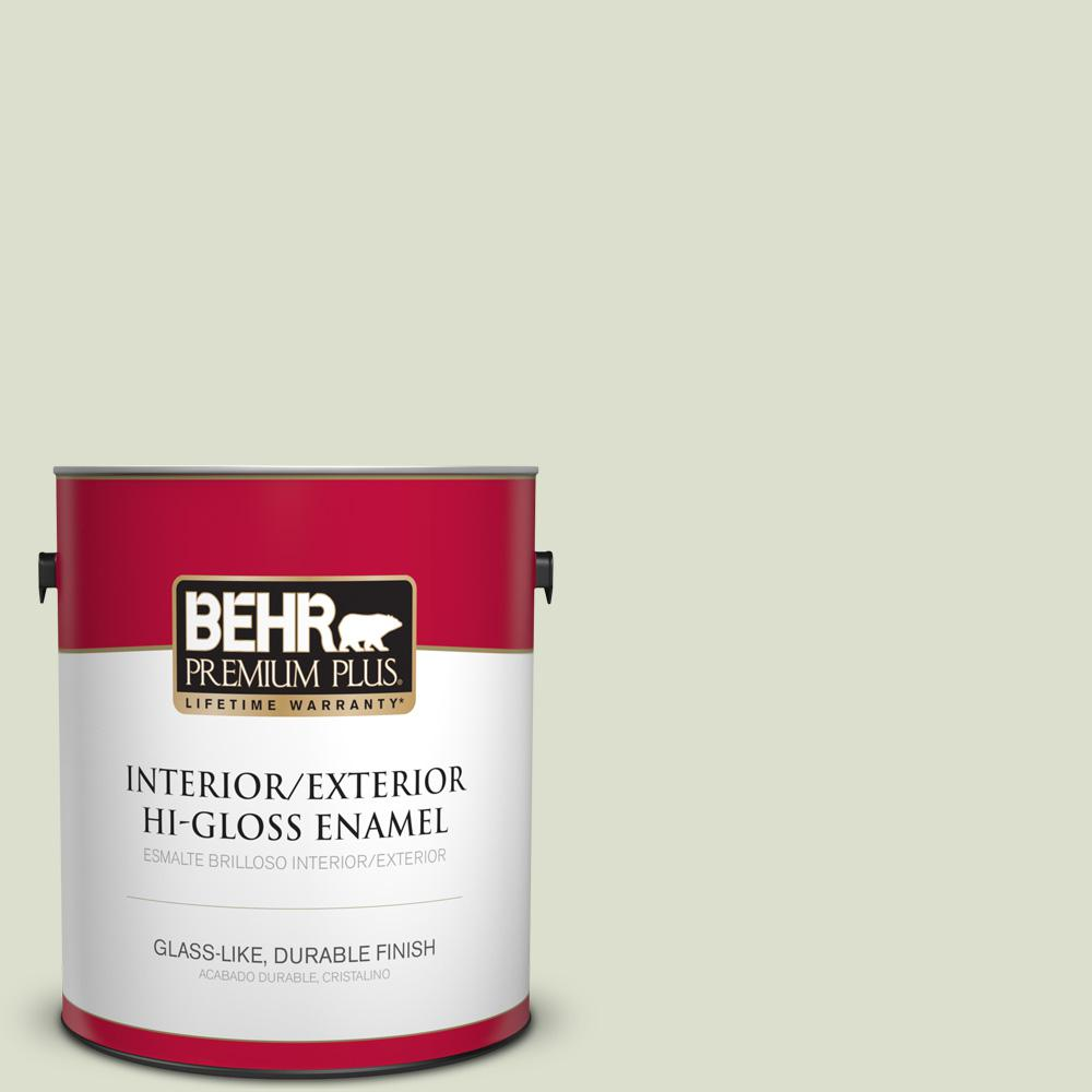 1 gal. #PPU10-15 Desert Springs Hi-Gloss Enamel Interior/Exterior Paint