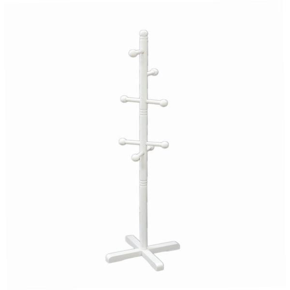 Homecraft Furniture 8-Hook Kid's Coat Rack in White WH101