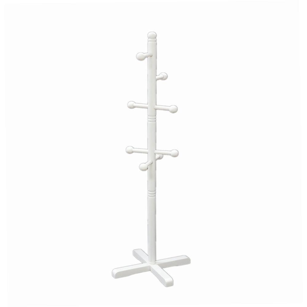 8-Hook Kid's Coat Rack in White