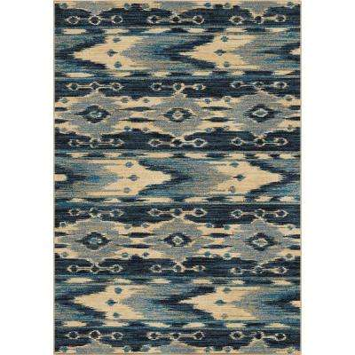 Mountain Spring Blue 8 ft. x 11 ft. Indoor Area Rug