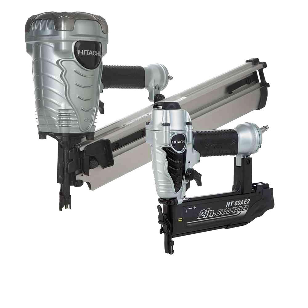 Hitachi 2-Piece 3-1/2 in. Plastic Strip Collated Framing Nailer and 18-Gauge x 2 in. Finish Nailer Combo Kit