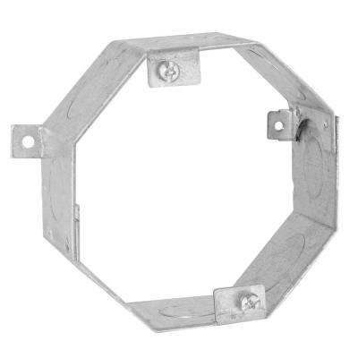 4 in. Octagon Welded Concrete Ring, 2 in. Deep with 1/2 and 3/4 in. Knockouts (25-Pack)
