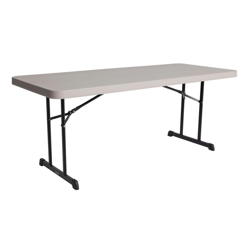 Lifetime 72 in. Putty Plastic Folding Banquet Table