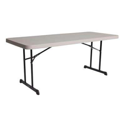 72 in. Putty Plastic Folding Banquet Table