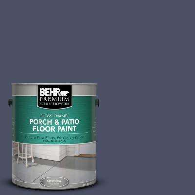 1 gal. #610F-7 Mystical Shade Gloss Interior/Exterior Porch and Patio Floor Paint