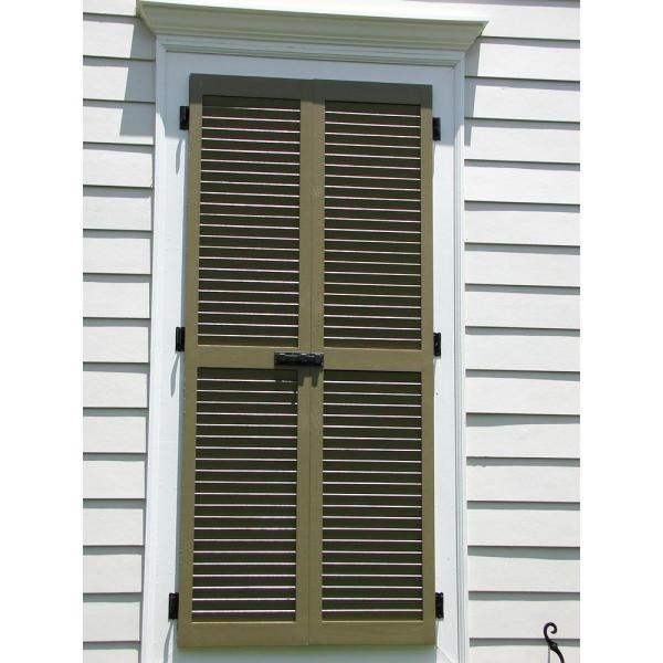 Ekena Millwork 12 In X 40 In Exterior Real Wood Western Red Cedar Louvered Shutters Pair Tudor Brown Rwl12x040tbw The Home Depot