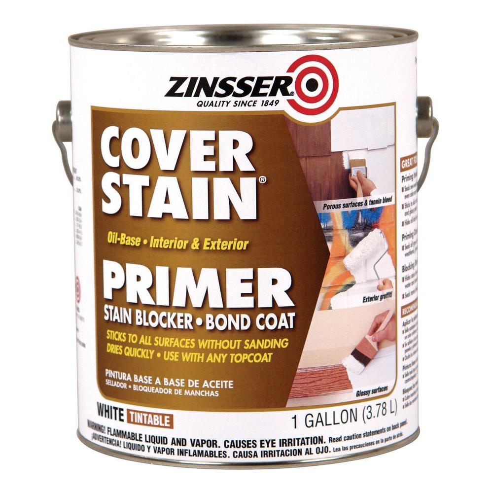 Zinsser 1 gal white cover stain interior exterior primer and sealer case of 4 3501 the home - Zinsser exterior paint pict ...