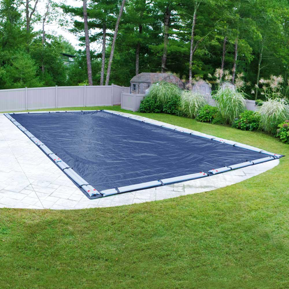 Robelle Olympus 16 ft. x 32 ft. Rectangular Blue Solid In-Ground Winter Pool Cover