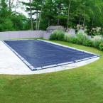 Olympus 16 ft. x 36 ft. Rectangular Blue Solid In-Ground Winter Pool Cover