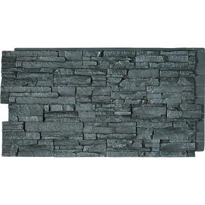 45-3/4 in. x 24-1/2 in. Canyon Ridge Stacked Stone, StoneWall Faux Stone Siding Panel