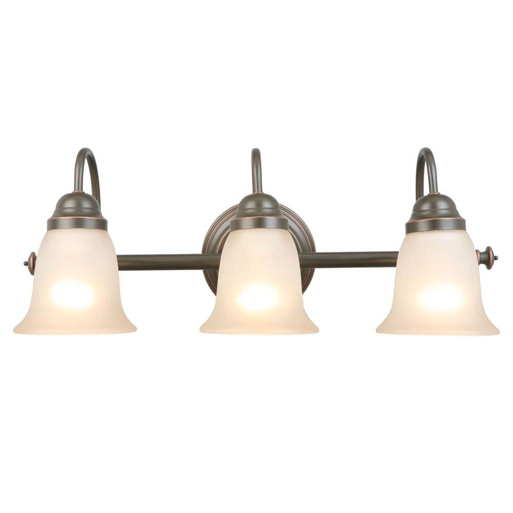 Hampton Bay Springston 3-Light Oil Rubbed Bronze Vanity Light with ...
