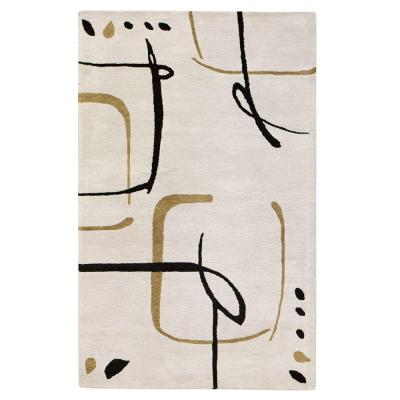 Fragment Snow 5 ft. x 8 ft. Area Rug