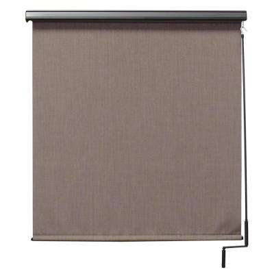 120 in. W x 96 in. L Sea Cliff  Elite PVC Fabric Outdoor Roller Shade Cordless Pole Operated with Valance