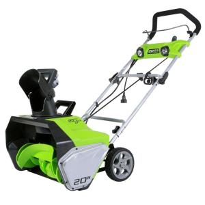 Greenworks 20 inch 13 Amp Electric Snow Blower with Lights by Greenworks