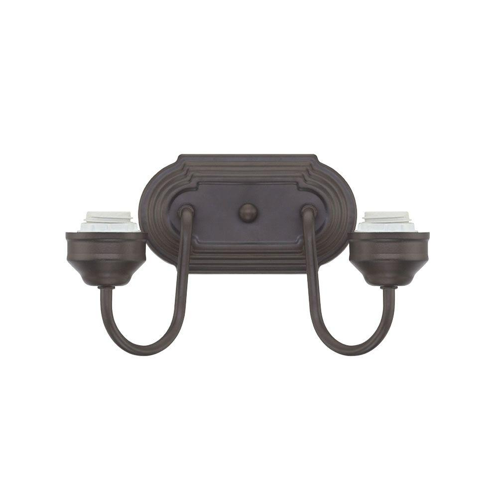 Westinghouse 2-Light Oil Rubbed Bronze Wall Fixture-6300300 - The Home Depot