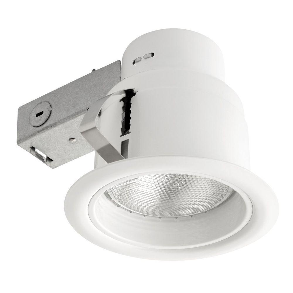 Globe Electric 5 in. Open White Recessed Lighting Kit-90671 - The ...