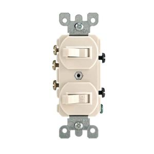 double three way switch wiring diagram leviton 15 amp 3    way    combination    double       switch     light  leviton 15 amp 3    way    combination    double       switch     light