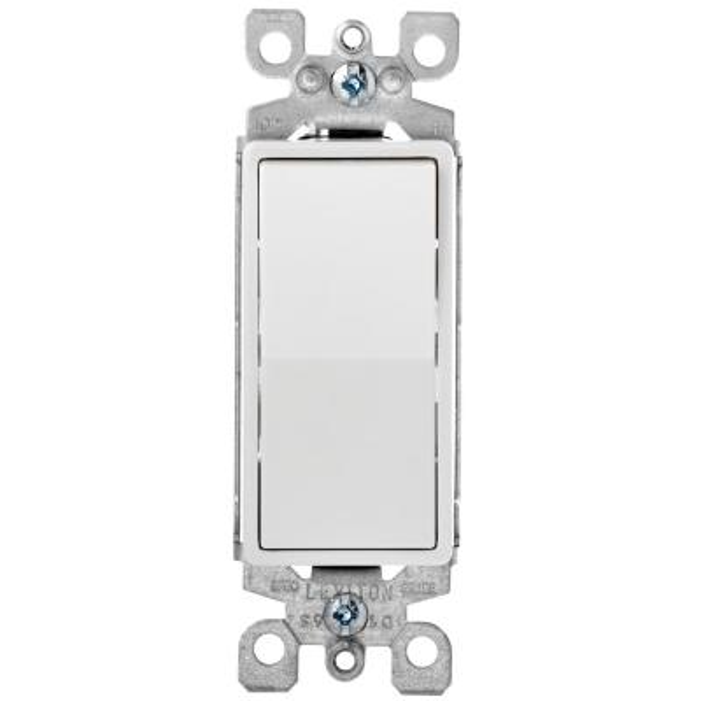 Decora Plus 15 Amp Switch, White