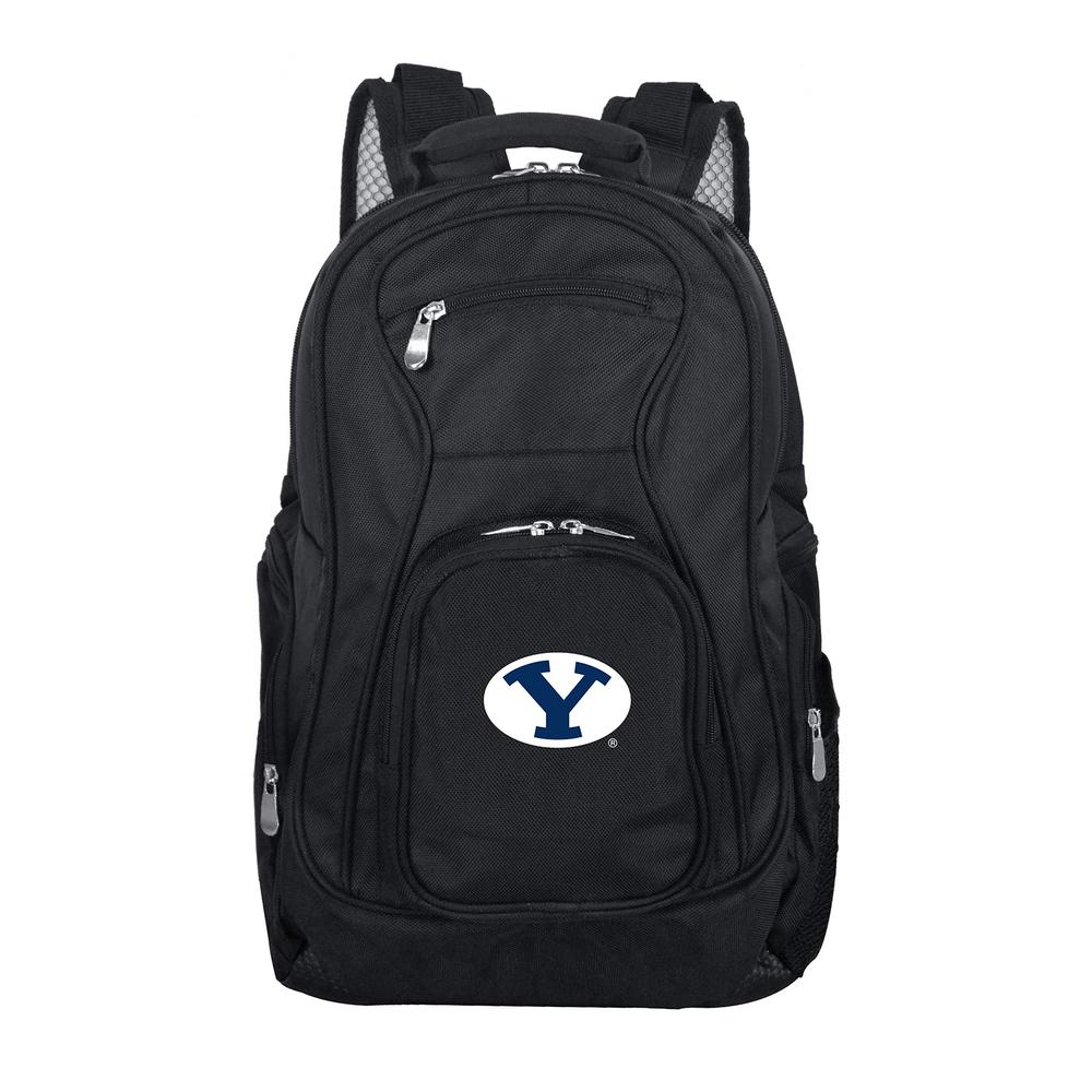 NCAA Brigham Young (BYU) Black Backpack Laptop