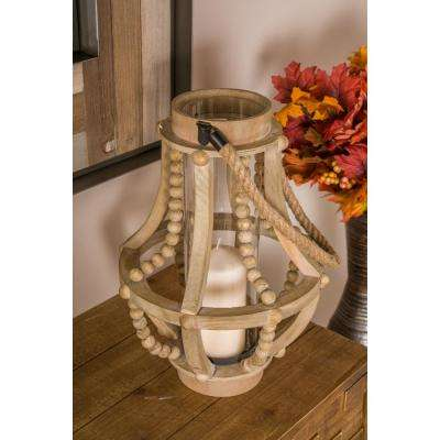 Brown Teardrop-Shaped Candle Lantern