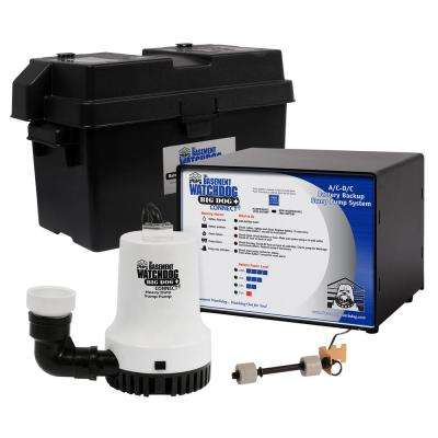 1/3 HP Big Dog Computer-Controlled AC/DC Battery Backup Sump Pump System