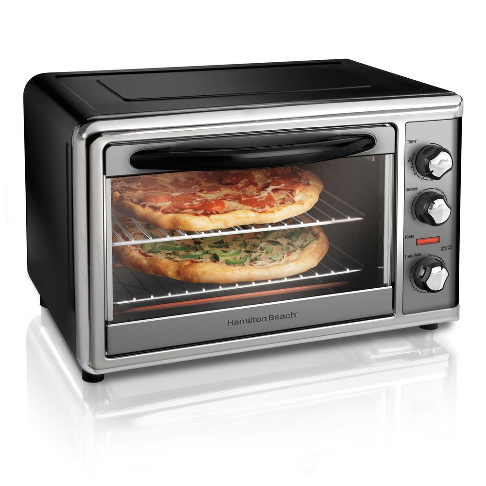 Countertop Black Toaster Oven with Convection and Rotisserie Countertop Black Toaster Oven with Convection and Rotisserie