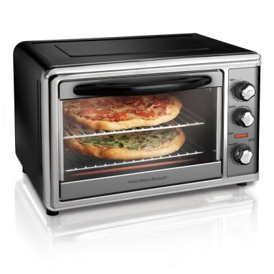 Countertop Black Toaster Oven with Convection and Rotisserie