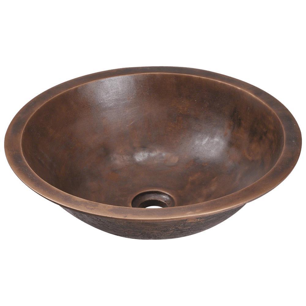 Dual-Mount Bathroom Sink in Bronze
