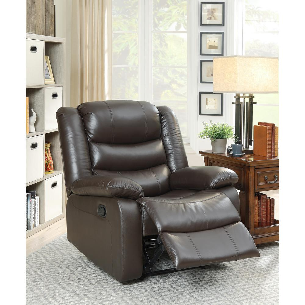 ACME Fede Top Grain Leather Recliner in Espresso  sc 1 st  The Home Depot : top recliners - islam-shia.org