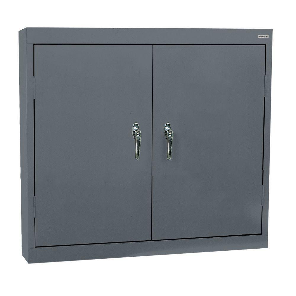 sandusky 30 in h x 36 in w x 12 in d steel wall storage cabinet in grey wa22361230 02 the. Black Bedroom Furniture Sets. Home Design Ideas
