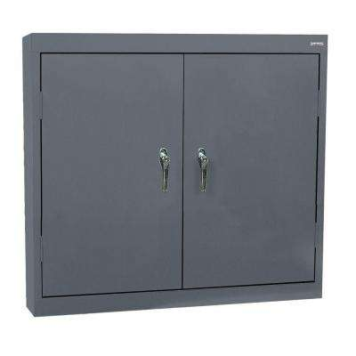 30 in. H x 36 in. W x 12 in. D Steel Wall Storage Cabinet in Charcoal