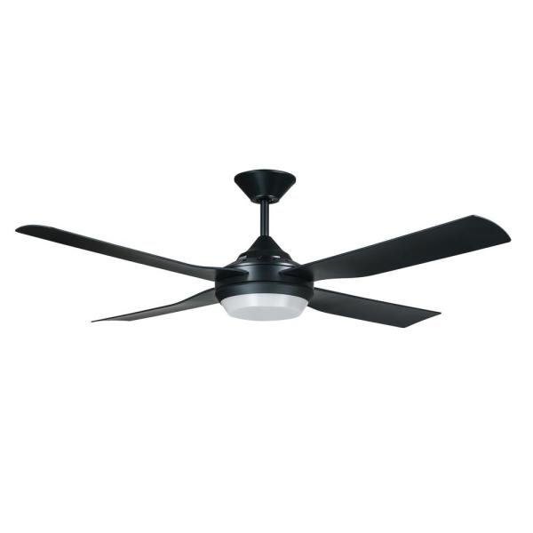 Moonah 52 in. LED Light Black Ceiling Fan with Remote Control