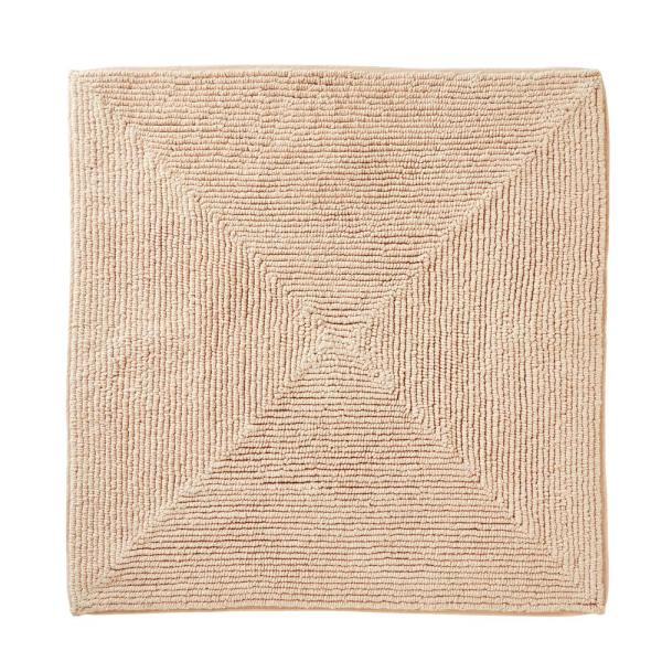 Ombre Pink 25 in. W x 25 in. L 100% Cotton Bath Mat Rug