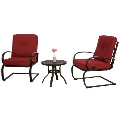 Leonard Steel Outdoor Brown Bistro Table and Chair Set