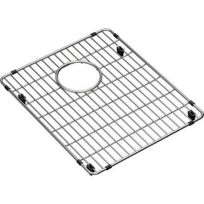 Crosstown 13 in. x 15.5 in. Bottom Grid for Kitchen Sink in Stainless Steel