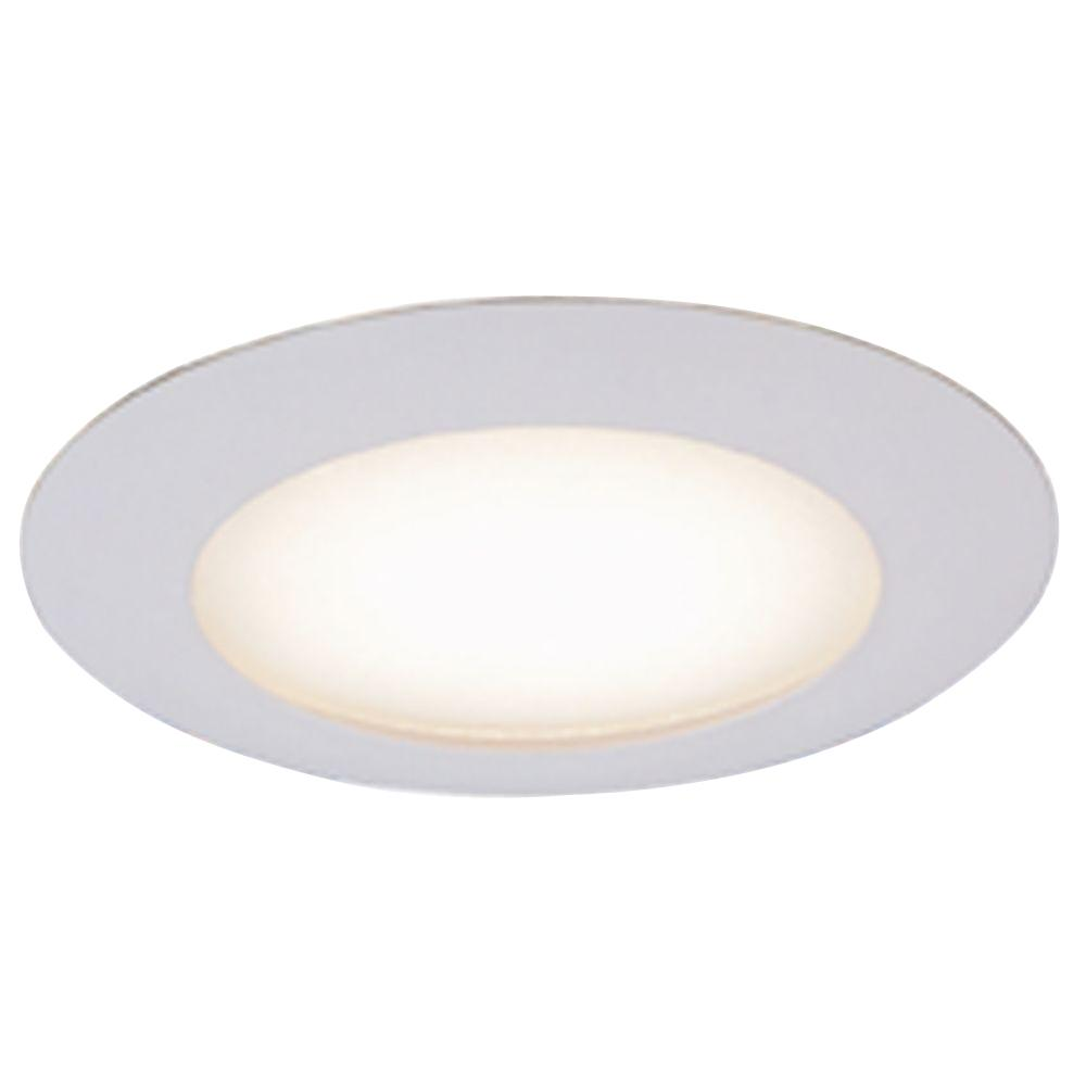 Commercial electric 6 in white recessed shower trim hbr70wh the home depot Bathroom recessed lighting placement