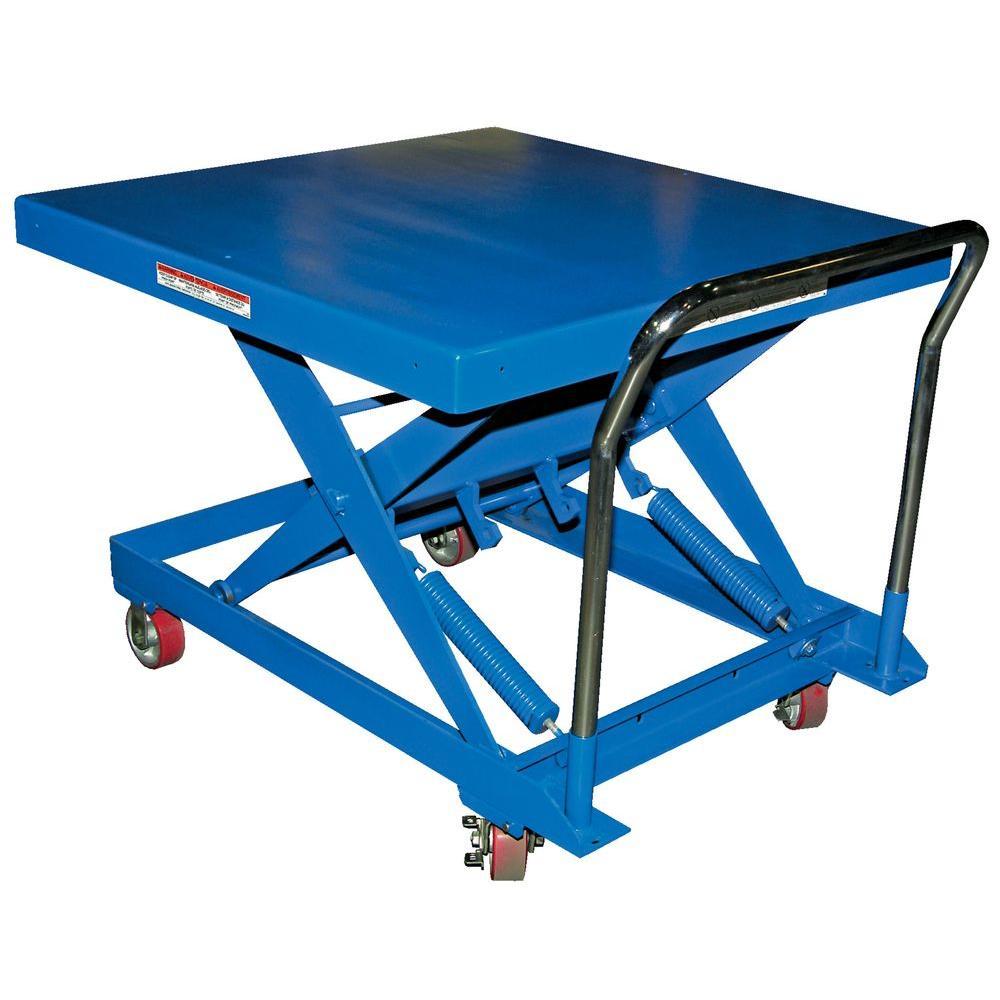 Vestil 42 in. x 42 in. 500 lb. Auto-Hite Steel Cart