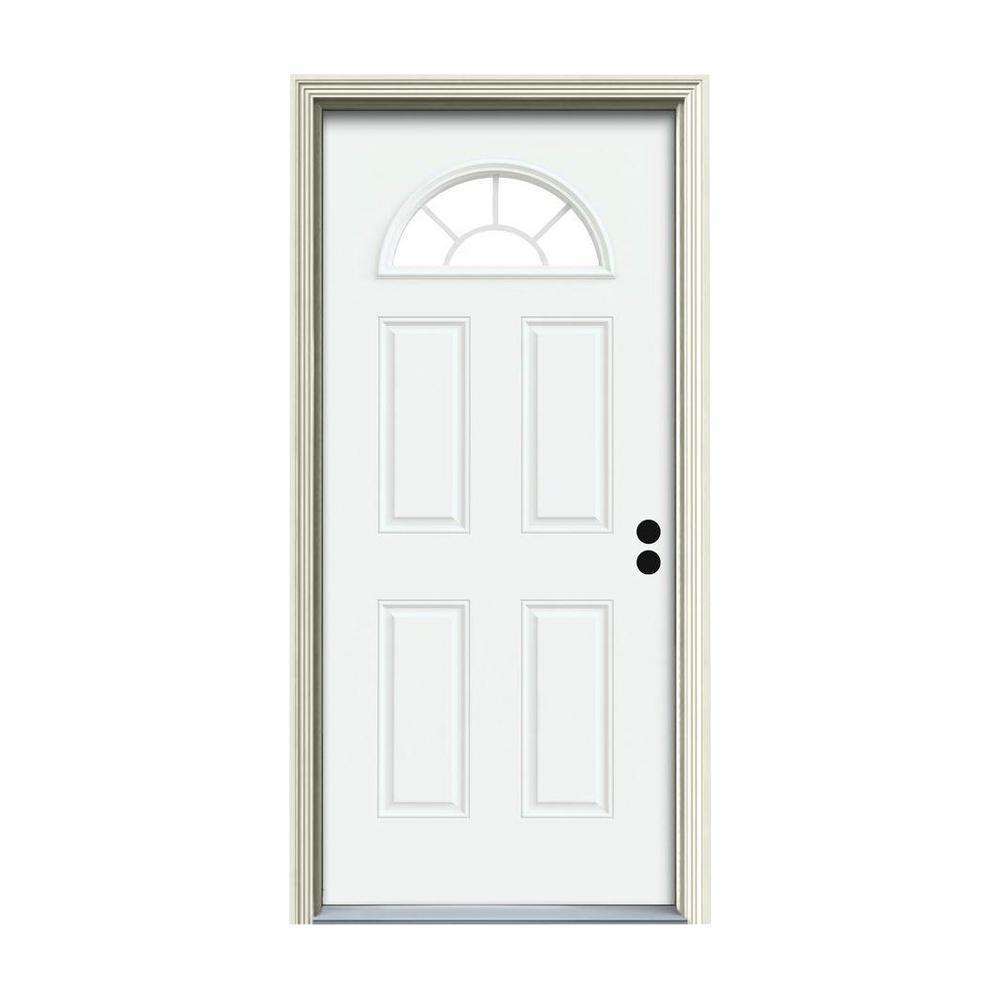 Fan Lite 30 X 80 Steel Doors Front Doors The Home Depot
