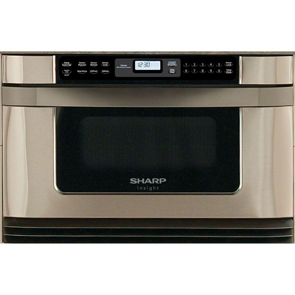Sharp Refurbished Insight 1.0 cu. ft. Microwave in Stainless Steel with Sensor Cooking-DISCONTINUED