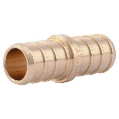 1/2 in. PEX Barb Brass Coupling Fitting