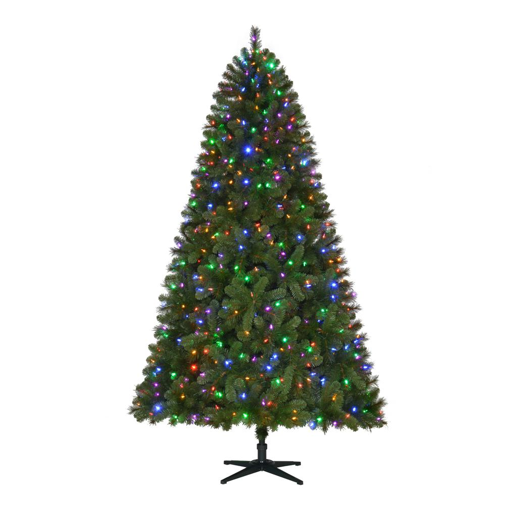 pre lit led wesley artificial christmas tree with color changing lights - Christmas Tree Shop Careers