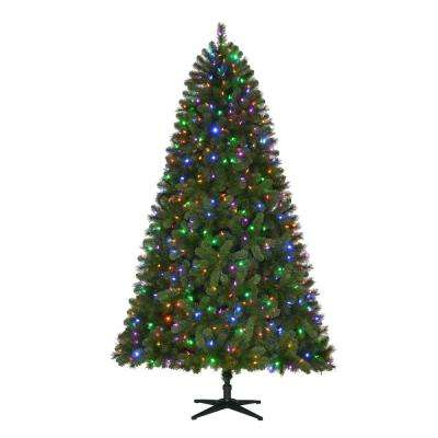 7.5 ft. Pre-Lit LED Wesley Artificial Christmas Tree with Color Changing Lights