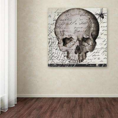 """24 in. x 24 in. """"Halloween Skull"""" by Color Bakery Printed Canvas Wall Art"""