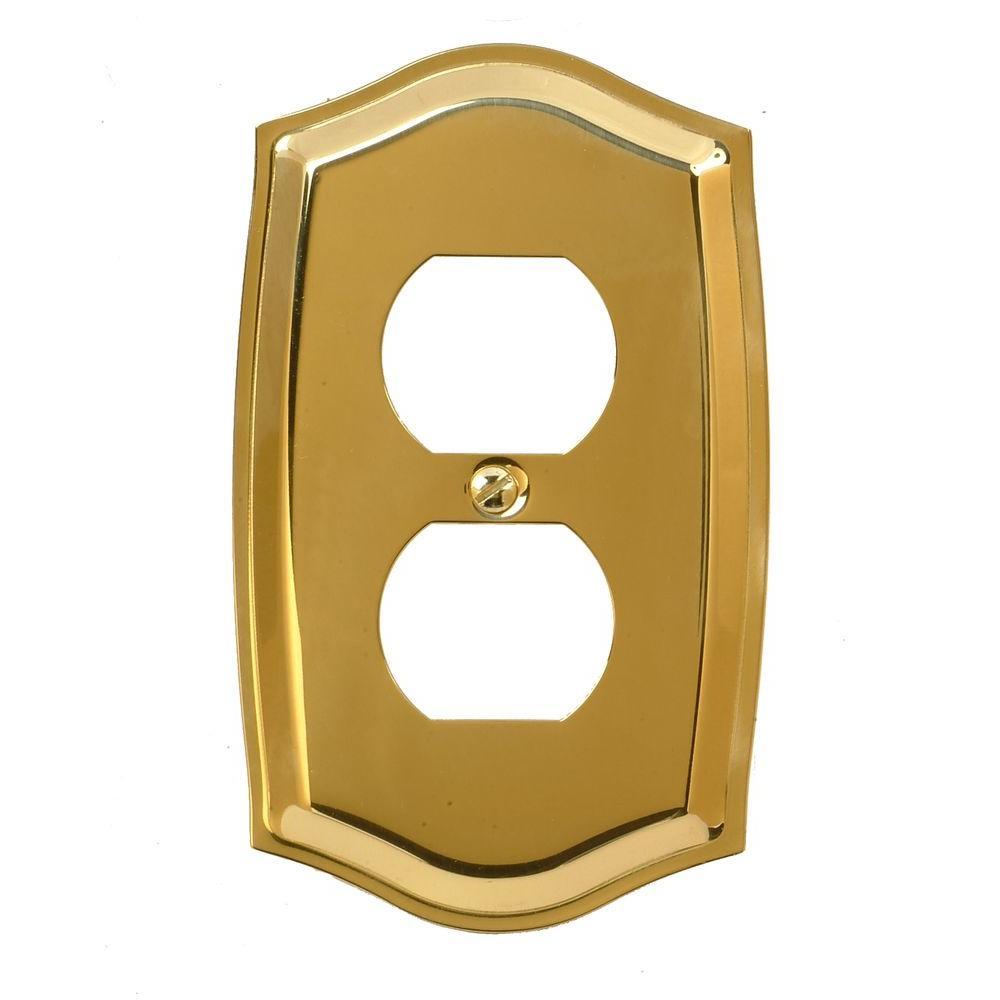 Sonoma 1 Duplex Wall Plate - Brass