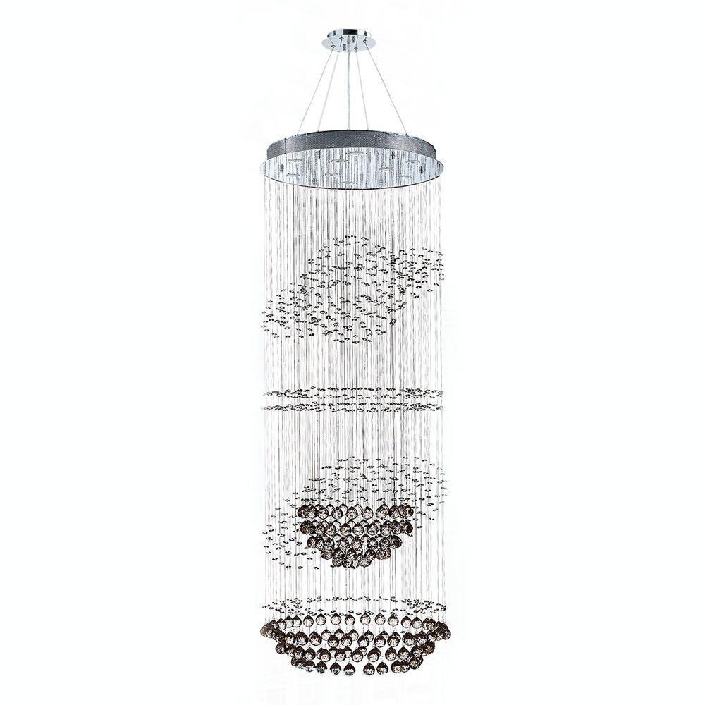 Worldwide Lighting Saturn Collection 9-Light Crystal and Chrome Chandelier